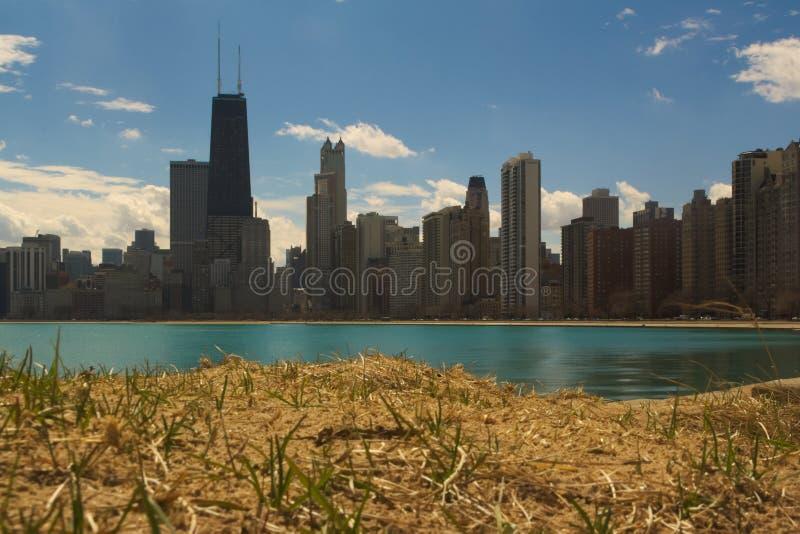 Het strand van Chicago royalty-vrije stock fotografie