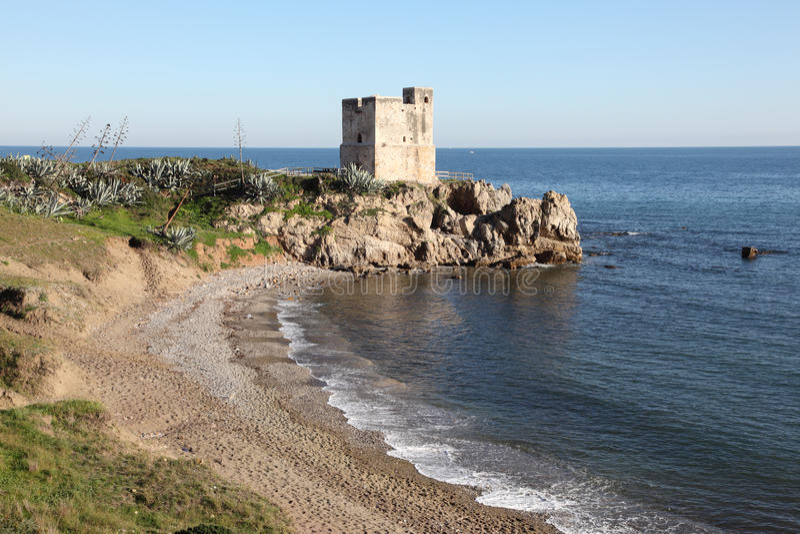 Het Strand van Costa del Sol, Spanje stock foto