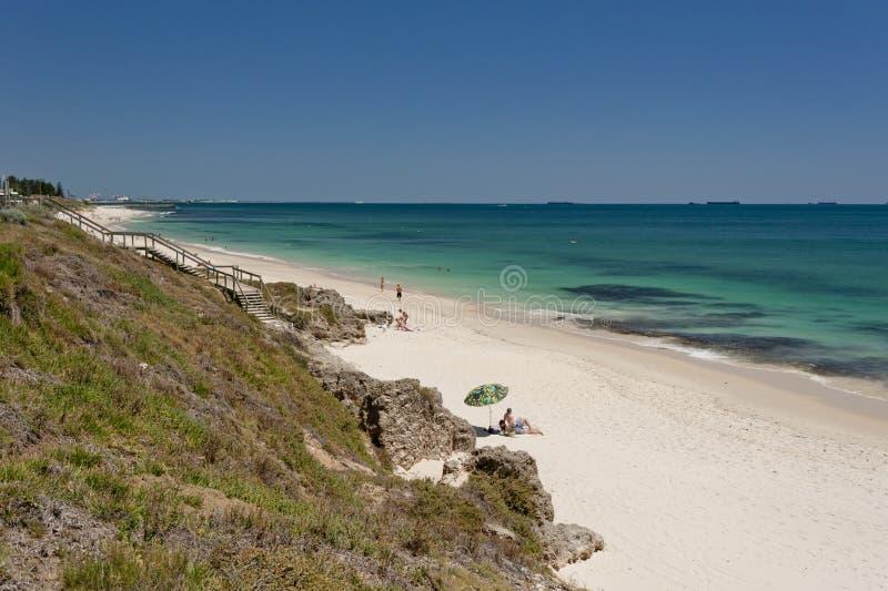 Het Strand van Cottesloe van het noorden, Perth, Westelijk Australië royalty-vrije stock afbeelding