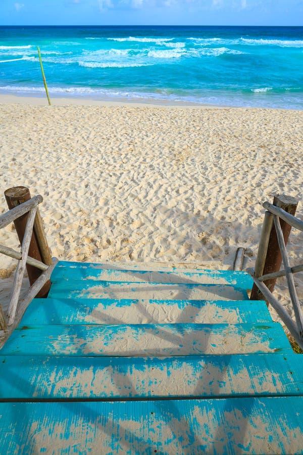 Het strand van het Cozumeleiland San Martin in Mexico stock fotografie