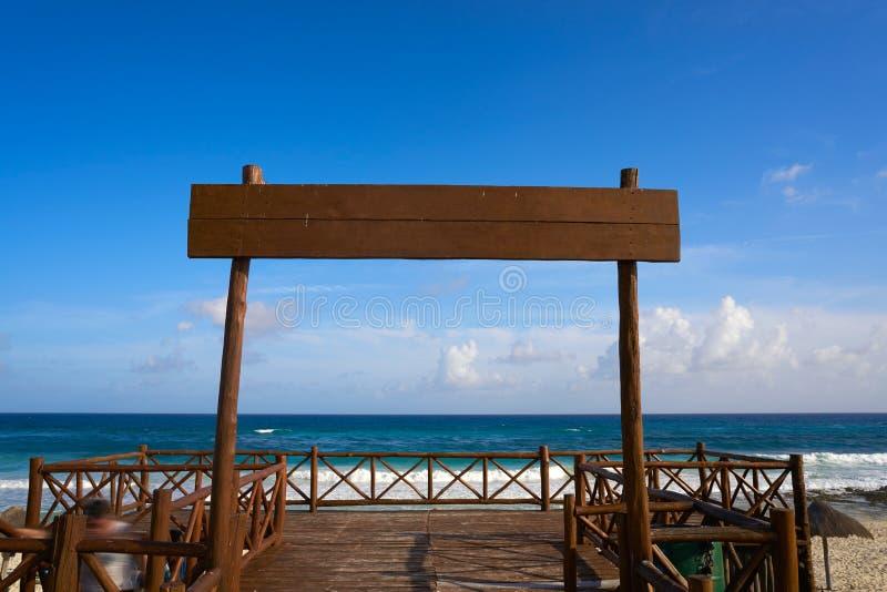 Het strand van het Cozumeleiland San Martin in Mexico stock afbeeldingen