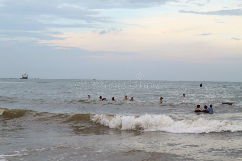 Het Strand van Cualo, Vietnam royalty-vrije stock foto's