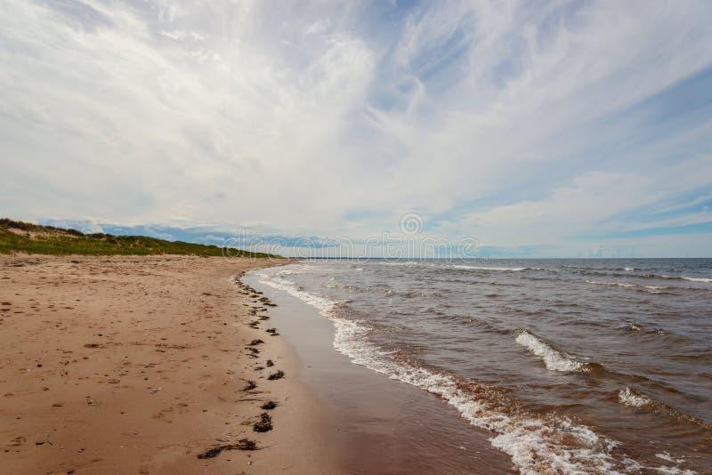 Het Strand van Dalvay stock foto's