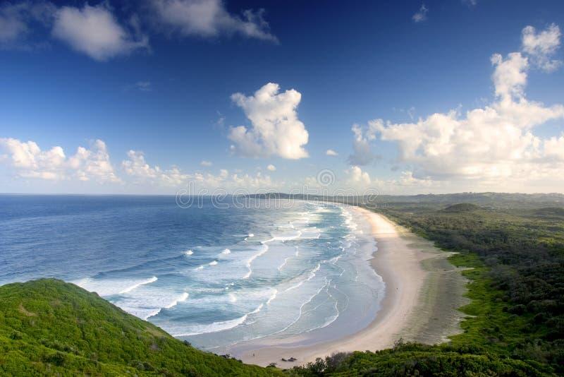 Het Strand van de Baai van Byron stock fotografie