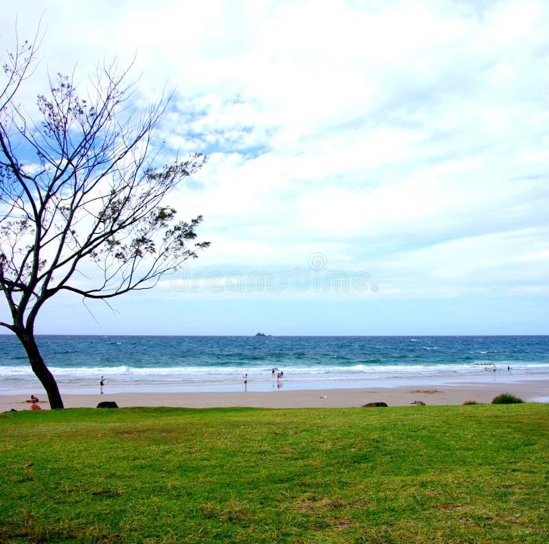 Het Strand van de Baai van Byron stock afbeelding