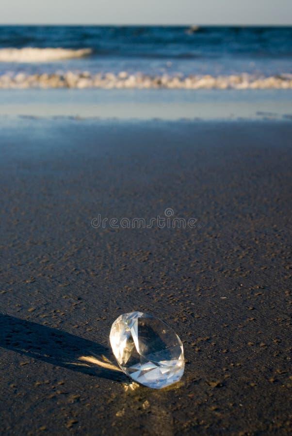 Het Strand van de diamant stock foto