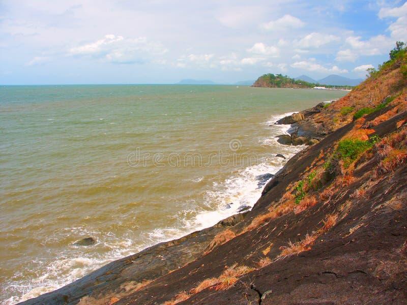 Het Strand van de drievuldigheid - Queensland, Australië royalty-vrije stock fotografie