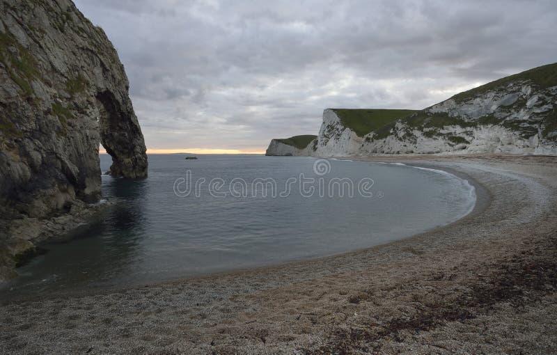 Het strand van de Durdledeur & Swyre-Hoofd stock afbeeldingen