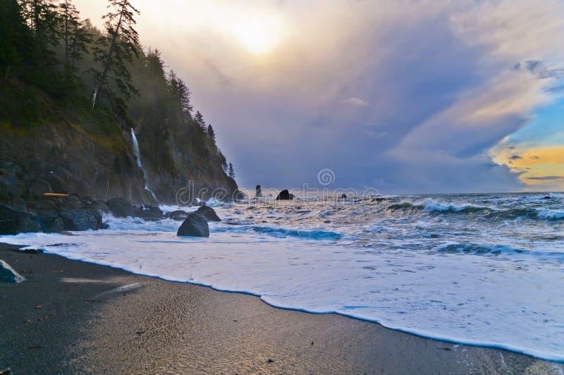 Het Strand van de Duw van La stock foto's