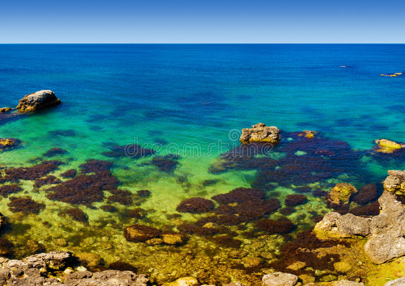 Het strand van de ertsader royalty-vrije stock afbeelding