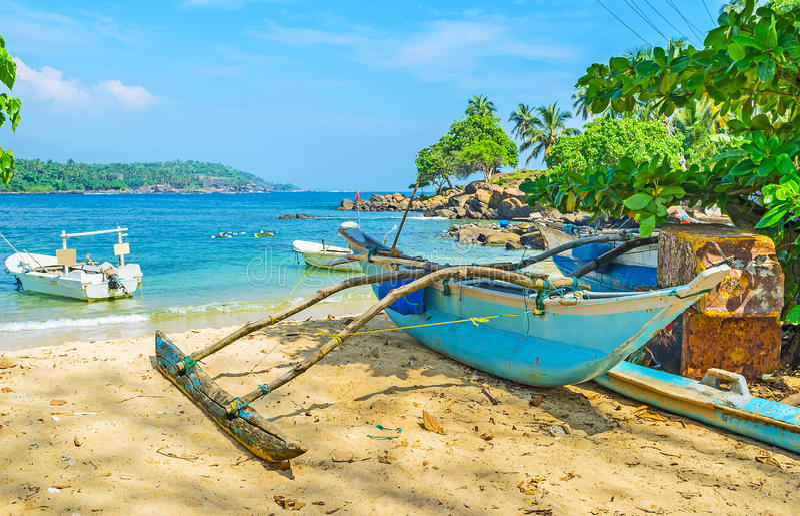 Het strand van de Hoofdkaap van Dondra stock foto