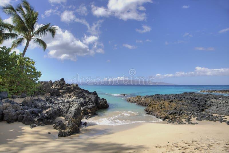 Het Strand van de Inham van Makena stock fotografie