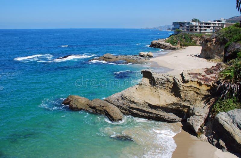Het Strand van de lijstrots, Laguna Beach, Californië. royalty-vrije stock foto
