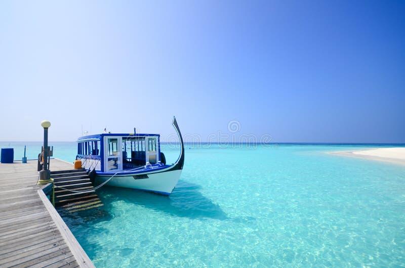 Het strand van de Maldiven royalty-vrije stock afbeeldingen