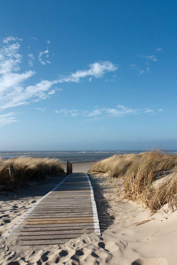 Het Strand van de Noordzee op Langeoog stock fotografie