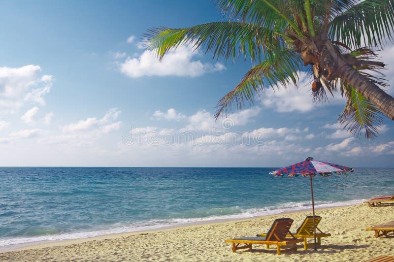 Het strand van de ochtend royalty-vrije stock fotografie