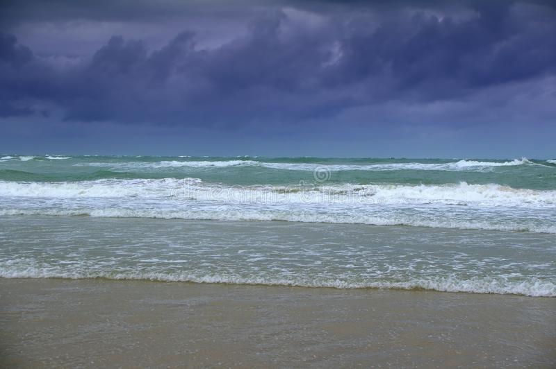 Het strand van de regenboog stock foto
