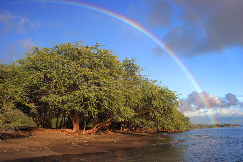 Het strand van de regenboog royalty-vrije stock fotografie
