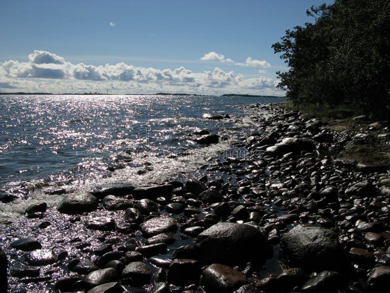 Het strand van de rots royalty-vrije stock fotografie