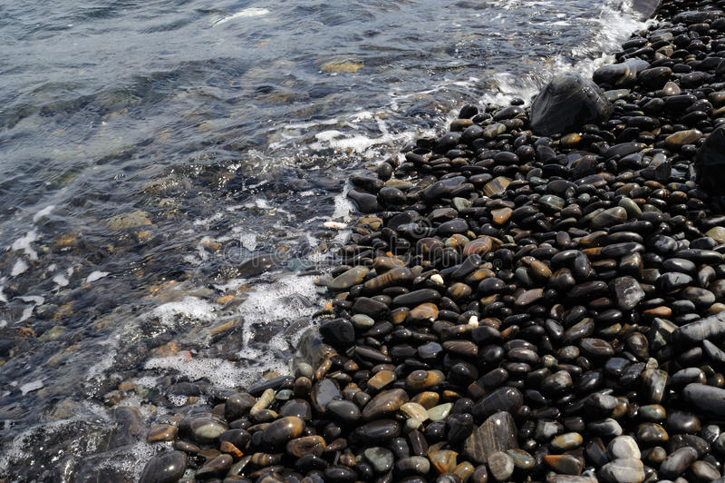 Het strand van de steen royalty-vrije stock fotografie
