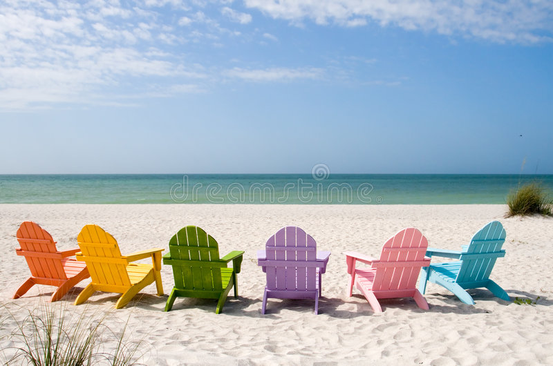 Het Strand van de Vakantie van de zomer royalty-vrije stock foto's