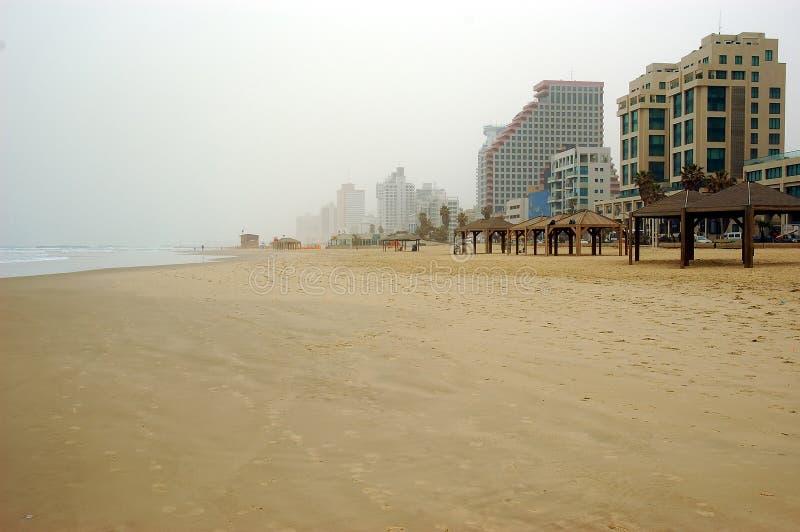 Het strand van de winter stock fotografie