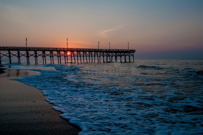 Het strand van de Zuid- mirte Carolina royalty-vrije stock afbeelding
