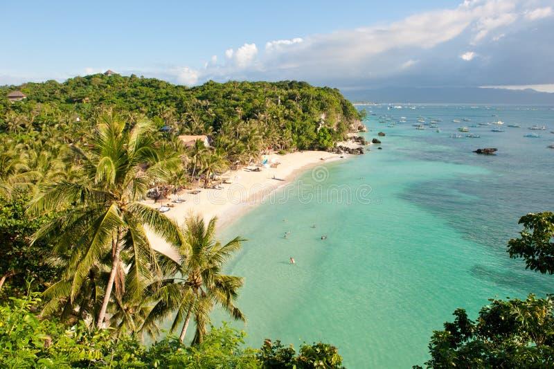 Het strand van Diniwid, Boracay Eiland, Filippijnen stock afbeelding