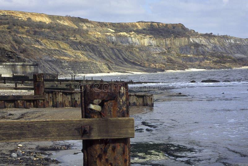 Het strand van Dorset - van Lyme REGIS stock afbeeldingen