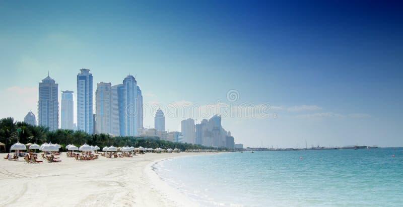 Het strand van Doubai stock foto