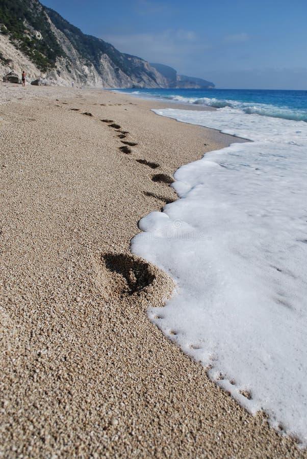 Het strand van Egremni royalty-vrije stock afbeelding