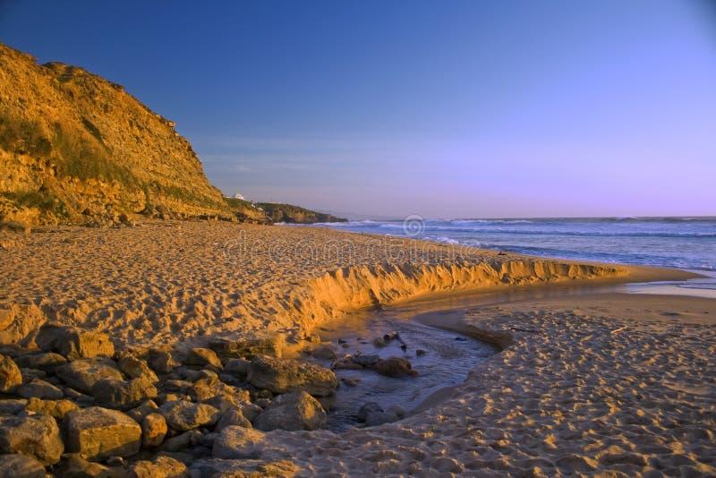 Het strand van Ericeira royalty-vrije stock foto