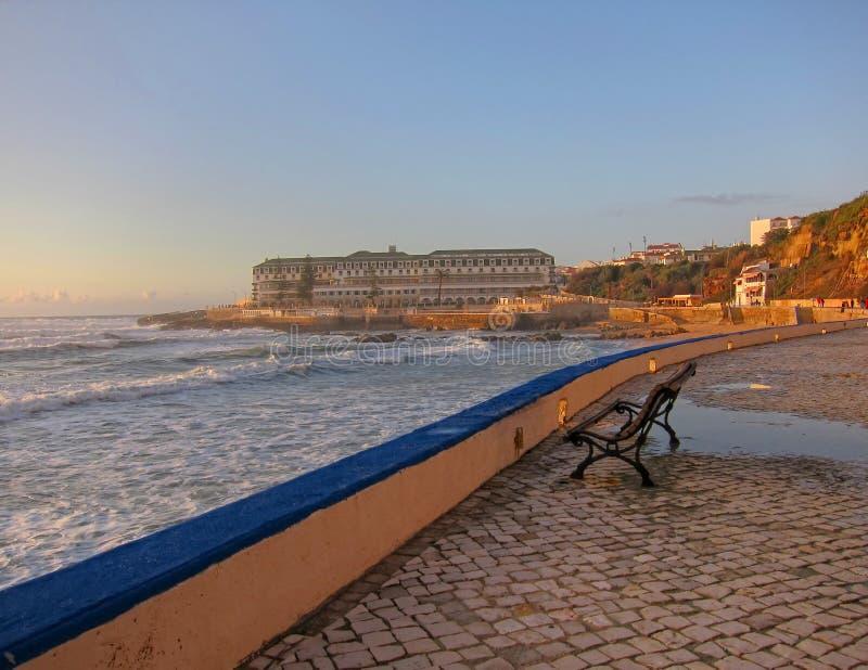 Het strand van Ericeira royalty-vrije stock foto's