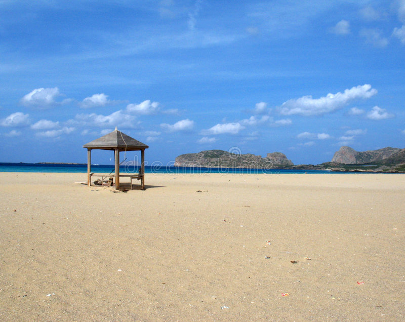 Het strand van Falasarna stock foto