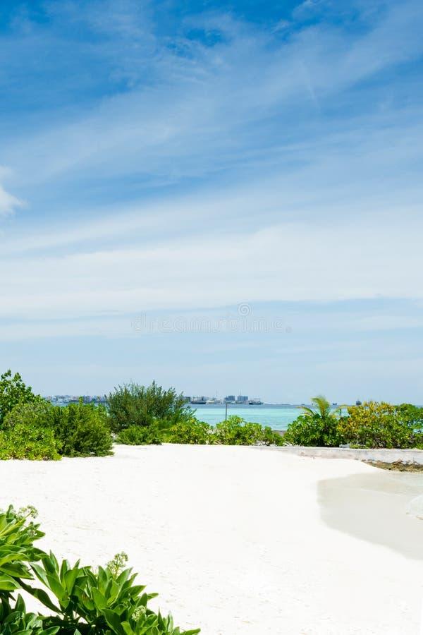 het strand van feydhoofinolhu - de Maldiven stock foto's