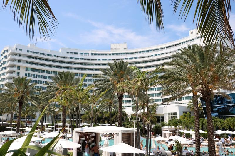 Het Strand van Fontainebleau Miami royalty-vrije stock foto's