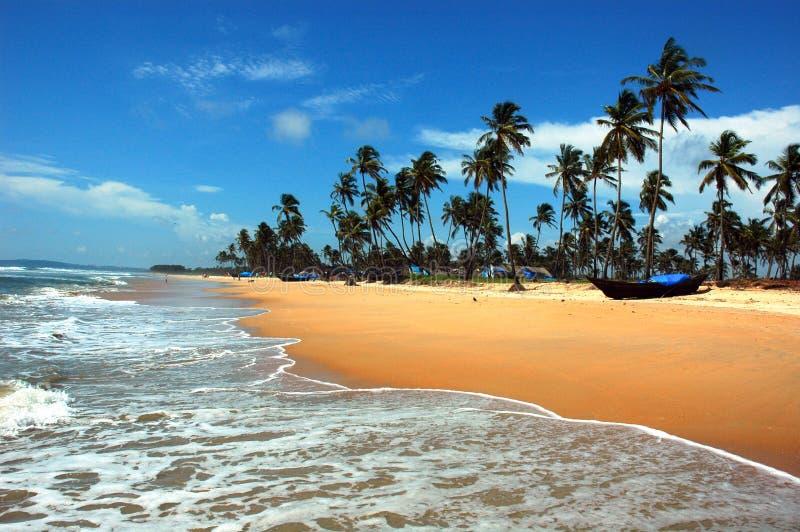 Het strand van goa-India. stock foto's