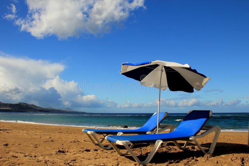 Het strand van Gran Canaria royalty-vrije stock foto