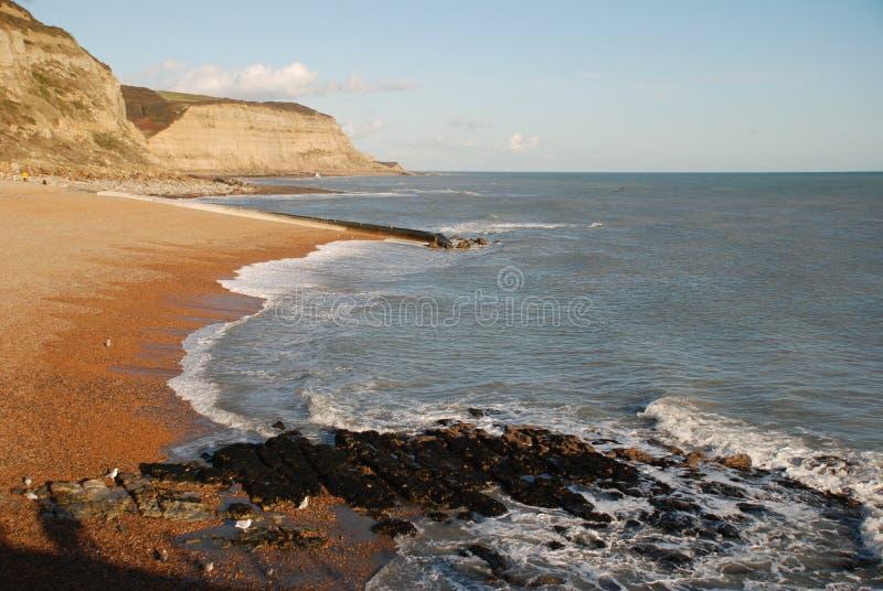 Het strand van Hastings, Engeland stock fotografie