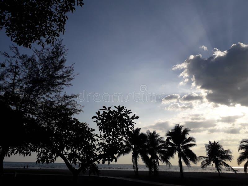 Het strand van haven dickson Maleisië royalty-vrije stock afbeeldingen