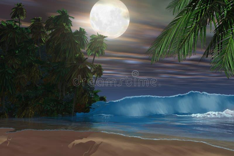 Het Strand van het eiland stock illustratie