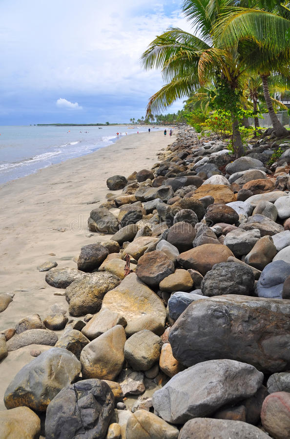 Het Strand van het eiland van Denarau, Fji royalty-vrije stock fotografie