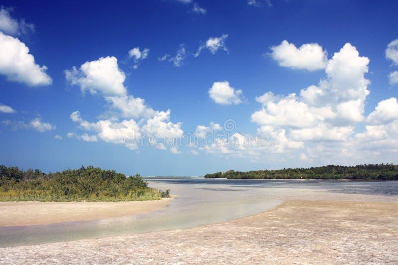 Het strand van het Eiland van Marco stock foto