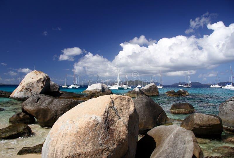 Het Strand van het graniet royalty-vrije stock afbeeldingen