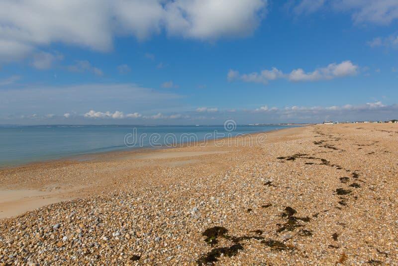 Het strand van het Haylingseiland dichtbij het zuidenkust van Portsmouth van Engeland het UK stock afbeelding