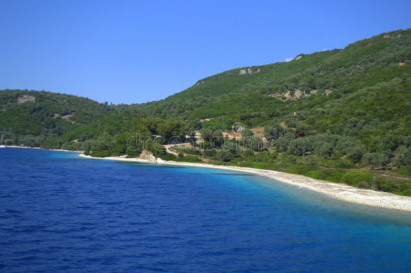 Het strand van het Meganicieiland royalty-vrije stock afbeelding