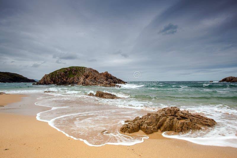 Het Strand van het moordgat, Provincie Donegal, Ierland stock afbeelding