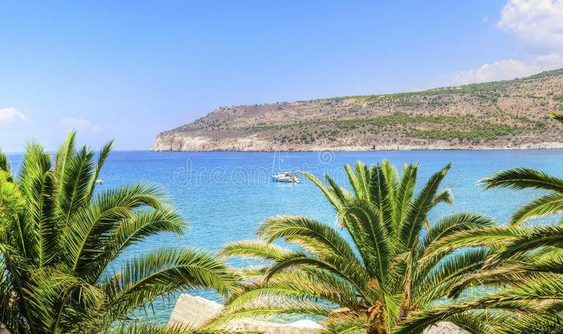 Het strand van het paradijs royalty-vrije stock foto's