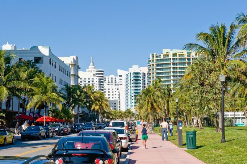 Het Strand van het Zuiden van Miami royalty-vrije stock fotografie
