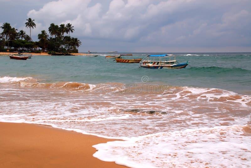 Het Strand van Hikkaduwa in Sri Lanka stock fotografie